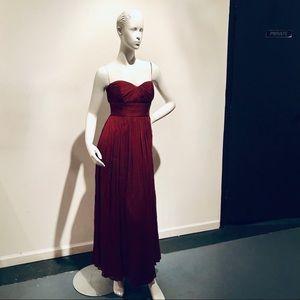 Stunning J. Crew Strapless Burgundy Maxi Dress 4